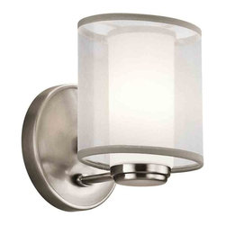 Kichler Lighting - Kichler Lighting 42924CLP Saldana Classic Pewter Wall Sconce - Kichler Lighting 42924CLP Saldana Classic Pewter Wall Sconce