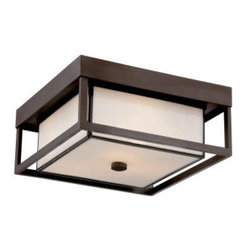 Quoizel - Quoizel PWL1613 Powell Outdoor Flush Mount Ceiling Fixture - Decorate your outdoors in style with this gorgeous 3 light outdoor flush mount ceiling fixture featuring dazzling white glass.Features: