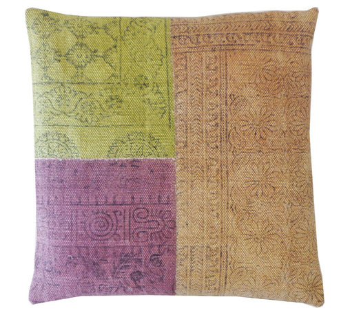 JITI - Multicolor Art Pillow - Three different colors, three different patterns, endless design possibilities! This soft cotton pillow is filled with feathers and down and it feels as good as it looks. Sprinkle a few throughout your space and enjoy all the sides of your personality.