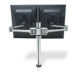 """Atdec - Dual Focus  LCD Desk Mount - Visidec Focus Articulated Double Arm for up to 24"""" LCD's  Desk Mount - Polished.... Supports two LCD Flat Panel Displays from 12"""" (30cm) to 24"""" (61cm); Maximum weight of 8kgs (17.5lbs) per display; Suits 75mm x 75mm (3"""" x 3"""") and 100mm x 100mm (4"""" x 4"""") VESA mounting hole patterns; Holds two displays at the same height; Can configure displays side by side or back to back; Standard arm length 413mm (16-1/4""""); Maximum height to centre of display 439mm (17-1/4""""); +/-70 degree tilt and adjustable pan of 180 degrees; Portrait/landscape rotation; Includes Bolt Through and Desk Clamp mounting options; Advanced cable management; All hardware included.  This item cannot be shipped to APO/FPO addresses. Please accept our apologies."""