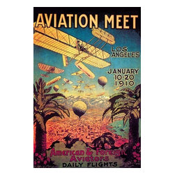 "Buyenlarge.com, Inc. - Aviation Meet in Los Angeles- Paper Poster 20"" x 30"" - Travel & Leisure during the Heyday of Commercial Air Travel when Flying was exciting and foreign locations exotic"