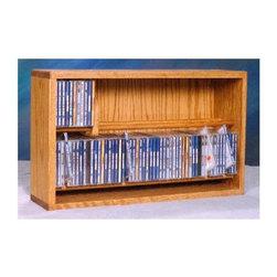 Wood Shed - 24.25 in. Dowel CD Storage Rack (Honey Oak) - Finish: Honey OakTwo shelves. Capacity: 112 CD's. Made from solid oak. Honey oak finish. 24.25 in. W x 6.5 in. D x 14.5 in. H