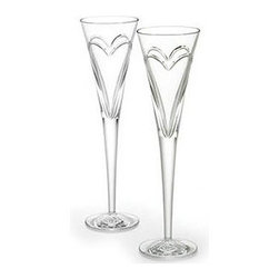 Waterford - Waterford Wishes Love and Romance Flutes Pair - Waterford Wishes Love and Romance Flutes Pair