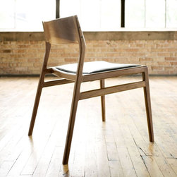 Jason Lewis Furniture C03 Dining Chair - Jason Lewis Furniture is hand built, one piece at a time from his Chicago Illinois wood shop.  Carefully selected hardwoods and time tested joinery techniques are used to create modern furniture of heirloom quality.