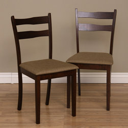 Warehouse of Tiffany - Warehouse of Tiffany Callan Wood Dining Chairs (Set of Four) - Revamp your kitchen decor with these dining room chairs from Warehouse of Tiffany. This set includes four gorgeous oak wood chairs.