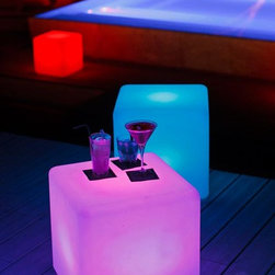 Outdoor LED Lights - Outdoor LED light products for nightclub designs and decorations, and hotels.  Nine Hours of continuous Use, changes colors by remote control. Prices vary based on size, for more info contact us at Jaavanpatio.com