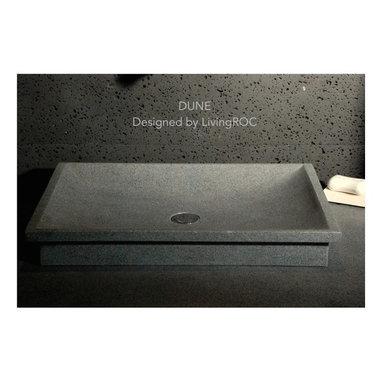 "DUNE 23""x16"" GRAY GRANITE BATHROOM VESSEL SINK - Reference: BB510-US"