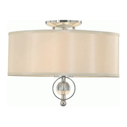 Golden Lighting - Golden Lighting 1030-FM-CH Cerchi 2 Light Flush Mount, Chrome - Cerchi Flush Mount in the Chrome finish