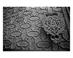 Detail Of A Spanish Door , Limited Edition, Photograph - Detail of a door in Spain done in the Moorish style