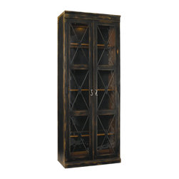 Hooker Furniture - Hooker Furniture Sanctuary Two Door Thin Display Cabinet in Ebony - Hooker Furniture - Curio Cabinets - 300550001 - We are all living in a busy world. Were harried and rushed and running about managing our lives jobs and taking care of family. We are constantly checking our smart phones and email. At the end of the day we need a respite from the world a place where we can relax and get centered. We need a home where we can be inspired. Through the Sanctuary Collection by Hooker Furniture you can create a sanctuary in your own home a tranquil space that exudes a peaceful calm and grace almost like a weekend retreat.