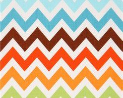 Robert Kaufman zig zag chevron fabric brown-blue Remix - stripe fabric from the USA by Ann Kelle with zig-zag pattern