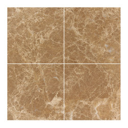 Stone & Co - Light Emperador Marble 6x6 Polished Wall and Floor Tile - Finish: Polished