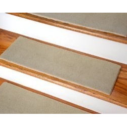 "Dean Flooring Company - Dean Indoor/Outdoor Skid-Resistant DIY Carpet Stair Treads - Lake City Beige - Dean Indoor/Outdoor Skid-Resistant DIY Carpet Stair Treads - Lake City Beige 27"" x 9"" : Dean Indoor/Outdoor Skid-Resistant DIY Carpet Stair Treads by Dean Flooring Company. Helps reduce slips, increase traction, and prevent falls. Helps you and even your dog easily navigate you slippery stairs. Protects your flooring from wear and tear. Warm and comfortable under foot. Attractive, quality high UV stabilized fade resistant indoor/outdoor polypropylene 27 oz. carpeting. Skid-resistant foam rubber backing. Edges are finished with attractive color matching binding. Size: 27"" x 9"". Set includes thirteen stair treads. Easy do-it-yourself installation. We recommend using Dean Flooring Company brand ""Double-Sided Mesh Tape"" for installation (sold separately). Great for use in or outside your home or on your boat, deck, or RV! Made in the USA!"