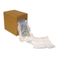 UNISAN - C-DSPBL CUT-END DUST MOP 40FTX5 W/POCKET DSGN 1 - Flash 40 comes pretreated in a natural color yarn. Slot pocket design backing accepts standard wire frame. 5-in. wide x 40-ft. roll, packed in heavy-duty corrugated carton. Razor included. Shpg. wt. 16-lbs.. . . . . . . . Flash 40 Disposable Roll. Dimensions: Height: 1, Length: 1.16, Width: 1. Country of Origin: CN   CAT: Mops, Brooms & Brushes Dusters NO LEVEL 3 DETAIL