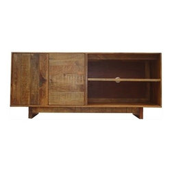 Rocky Mountain Woodworks - Porter Credenza/Entertainment Console - Mango wood with natural markings and distressed characteristics.