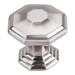 "Top Knobs - Chalet Knob 1 1/2"" - Brushed Satin Nickel - Width - 1 1/2"", Projection - 1 5/16"", Base Diameter - 1"""