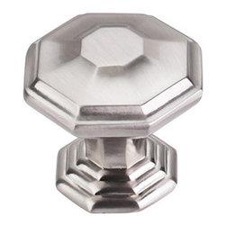"Top Knobs - Chalet Knob 1 1/2"" - Brushed Satin Nickel - Width - 1 1/2"", Projection - 1 5/16"", Base Diameter - 1"""