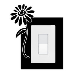 StickONmania - Lightswitch Plants #8 Sticker - A vinyl sticker decal to decorate a lightswitch.  Decorate your home with original vinyl decals made to order in our shop located in the USA. We only use the best equipment and materials to guarantee the everlasting quality of each vinyl sticker. Our original wall art design stickers are easy to apply on most flat surfaces, including slightly textured walls, windows, mirrors, or any smooth surface. Some wall decals may come in multiple pieces due to the size of the design, different sizes of most of our vinyl stickers are available, please message us for a quote. Interior wall decor stickers come with a MATTE finish that is easier to remove from painted surfaces but Exterior stickers for cars,  bathrooms and refrigerators come with a stickier GLOSSY finish that can also be used for exterior purposes. We DO NOT recommend using glossy finish stickers on walls. All of our Vinyl wall decals are removable but not re-positionable, simply peel and stick, no glue or chemicals needed. Our decals always come with instructions and if you order from Houzz we will always add a small thank you gift.