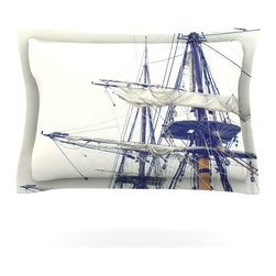 "Kess InHouse - Bree Madden ""Pirate Ship"" Pillow Sham (Cotton, 40"" x 20"") - Pairing your already chic duvet cover with playful pillow shams is the perfect way to tie your bedroom together. There are endless possibilities to feed your artistic palette with these imaginative pillow shams. It will looks so elegant you won't want ruin the masterpiece you have created when you go to bed. Not only are these pillow shams nice to look at they are also made from a high quality cotton blend. They are so soft that they will elevate your sleep up to level that is beyond Cloud 9. We always print our goods with the highest quality printing process in order to maintain the integrity of the art that you are adeptly displaying. This means that you won't have to worry about your art fading or your sham loosing it's freshness."