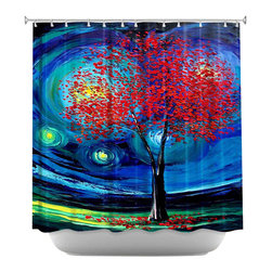 DiaNoche Designs - Shower Curtain Artistic - Story of the Tree Act xli - DiaNoche Designs works with artists from around the world to bring unique, artistic products to decorate all aspects of your home.  Our designer Shower Curtains will be the talk of every guest to visit your bathroom!  Our Shower Curtains have Sewn reinforced holes for curtain rings, Shower Curtain Rings Not Included.  Dye Sublimation printing adheres the ink to the material for long life and durability. Machine Wash upon arrival for maximum softness on cold and dry low.  Printed in USA.