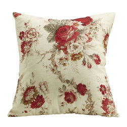 Coaster - Accent Pillow, Rose Floral - Set of 2 - Add soft floral patterns or natural leaf textures to your living room to bring a warm and inviting atmosphere to your home.