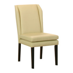 Cramco - Cramco Danika Ebony and Ivory Polyurethane Wing Parson's Chair (Set of 2) - Features:
