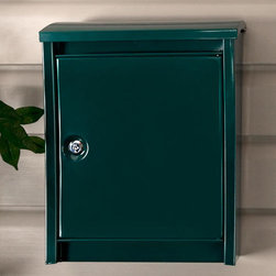 Urban Locking Wall-Mount Mailbox - The Urban Locking Wall-Mount Mailbox mixes beauty and function with its ultra-contemporary design and secure locking feature.
