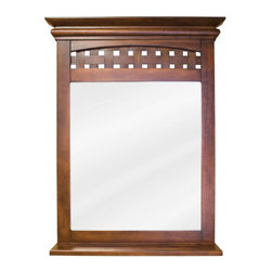 Elements - Elements MIR055 Lyn Collection Rectangular 26 x 34-1/4 Inch Bathroom Vanity Mirr - This fashionable vanity mirror from Element's Lyn Collection features a rectangular, portrait-hung design that's perfect for complementing a variety of bathroom decor. Boasting elegant craftwork and gorgeous beveled glass, this mirror is the ideal choice for completing any bathroom makeover.Vanity Mirror: Designed to accompany the Elements vanity VAN055. This mirror looks great as either part of a vanity set, or as a standalone accessory. Features: