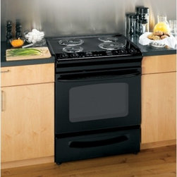 """GE - JSP39DNBB 30"""" Slide-In Electric Range with 4 Coil Elements  4.4 cu. ft. Oven Cap - GE Consumer and Industrial spans the globe as an industry leader in major appliance lighting and integrated industrial equipment systems and services They provide solutions for commercial industrial and residential use in more than 100 countries whic..."""