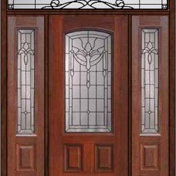 """Prehung Sidelights-Transom Door 80 Fiberglass Palacio Arch Lite - SKU#MCT06195_DFAP1-2RUBrandGlassCraftDoor TypeExteriorManufacturer CollectionArch Lite Entry DoorsDoor ModelPalacioDoor MaterialFiberglassWoodgrainVeneerPrice4685Door Size Options32"""" + 2( 14"""")[5'-0""""]  $036"""" + 2( 14"""")[5'-4""""]  $036"""" + 2( 12"""")[5'-0""""]  $0Core TypeDoor StyleDoor Lite StyleArch LiteDoor Panel Style2 PanelHome Style MatchingDoor ConstructionPrehanging OptionsPrehungPrehung ConfigurationDoor with Two Sidelites and Rectangular TransomDoor Thickness (Inches)1.75Glass Thickness (Inches)Glass TypeDouble GlazedGlass CamingBlackGlass FeaturesTempered glassGlass StyleGlass TextureGlass ObscurityDoor FeaturesDoor ApprovalsEnergy Star , TCEQ , Wind-load Rated , AMD , NFRC-IG , IRC , NFRC-Safety GlassDoor FinishesDoor AccessoriesWeight (lbs)663Crating Size36"""" (w)x 108"""" (l)x 89"""" (h)Lead TimeSlab Doors: 7 Business DaysPrehung:14 Business DaysPrefinished, PreHung:21 Business DaysWarrantyFive (5) years limited warranty for the Fiberglass FinishThree (3) years limited warranty for MasterGrain Door Panel"""