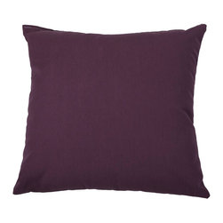 """Sunbrella® 24""""x24"""" Square Designer Pillow, Canvas Iris - Making the best relaxation that much better! Soft. Plush. Vibrant. Attractive. Durable. Colorfast. These pillows promise lasting outdoor comfort you won't want to take your eyes or head off of! The stylish 24""""x24"""" Sunbrella® Square Designer Pillow is sure to liven up any backyard and to provide instant comfort for relaxation. Perfect for hammocks, benches, chairs, sofas, futons, chaise lounges, and more."""