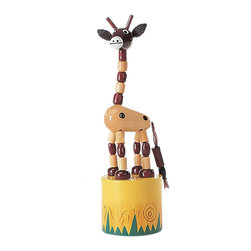 """The Original Toy Company - The Original Toy Company Kids Children Play Small Giraffe Thumb Puppet - Our """"Exclusive"""" beautifully painted. Wooden thumb puppets provide a vast. Number of amusing actions and hours of Memorable play value for one and all. Average height- 4.5"""". Ages 3 plus years to Adult"""