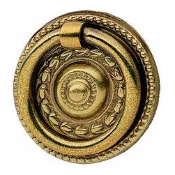 Hafele - Hafele: Ring Handle: Brass: Old English: 38mm With Screw - Hafele: Ring Handle: Brass: Old English: 38mm With Screw