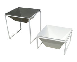 Haskell - Pearl Series 9 TRAPA Planter Stand, Pearl - Give your greenery a standout spot with these frames, designed to hold modular planters. The low maintenance stainless steel consists of up to 85 percent recycled content with a powder coating that releases few, if any, VOCs into the atmosphere.