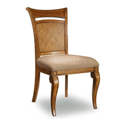 "Hooker Furniture - Windward Raffia Chair - Set of 2 - Side - White glove, in-home delivery!  For this item, additional shipping fee will apply.  Relaxing with Windward offers a laid back lifestyle wherever the locale.  Windward offers a mellow light brown finish and is crafted using hardwood solids and cherry veneers with raffia accents.  Set of 2 chairs.  Arm height: 24 3/4"" h"