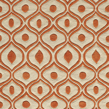 """Bliss BS-09 Orange Rug - 2'3""""x8' - Bliss is a collection of bold transitional and soft contemporary patterns in earthen tones, hand-tufted from the softest blend of polyester. It features hand-carving for added depth and texture."""
