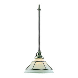 Dolan Designs - Dolan Designs 621-09 Craftsman Satin Nickel Mini Pendant - Dolan Designs 621-09 Craftsman Satin Nickel Mini Pendant