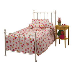 Hillsdale Furniture - Hillsdale Molly Panel Bed in White - Queen - Adorable old fashioned kids bed is updated with festive and trendy colors: blue, green, red and yellow. A new spin on an old standard.