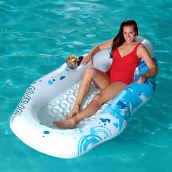 Rave Sports - Aviva Breeze Pool Lounger - 1020199 - Shop for Floats from Hayneedle.com! Let your troubles drift away as you float on the Aviva Breeze Pool Lounger. This inflatable water island raft offers plenty of space to stretch out under the sun and freely flow on the water. Rest your head on the inflatable yellow pillow and keep your favorite beverage on hand in one of the drink holders. Made of durable 0.3mm PVC vinyl you'll enjoy the comforts of this long-lasting lounger.About Aviva Products Nestled in the heart of Lake of the Ozarks is headquarters for Aviva. It was here that Aviva launched its exciting endeavor to create a company that offers innovative high-quality and (most of all) fun recreational inflatable products. Early success fueled Aviva to expand its innovative product offerings in both commercial-grade and consumer-grade product categories. With offices and warehouses in USA Europe and Asia the popular products from Aviva now span the planet.