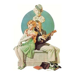 """Buyenlarge.com, Inc. - Serenade - Fine Art Giclee Print 24"""" x 36"""" - Another high quality vintage art reproduction by Buyenlarge. One of many rare and wonderful images brought forward in time. I hope they bring you pleasure each and every time you look at them."""