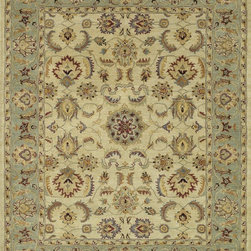 "Loloi Rugs - Loloi Rugs Maple Collection - Beige / Green, 7'-9"" x 9'-9"" - Transform your home into a manor steeped in elegance and tradition with the majestic Maple Collection. These timeless Persian designs carry the rich heritage of centuries of carpet making in each arabesque, stylized flower and intricate border. Maple Collection rugs are hand-tufted in India of 100-percent wool so they are eco-friendly and mindfully crafted with sustainable materials. With colors as rich as these, you will feel like nobility every time you walk into your home."
