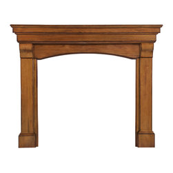 """Pearl Mantel - The Blue Ridge Fireplace Surround, Medium Distressed Finish, 56"""" - A domestic love affair. While the fireplace is celebrated as the heart of the home, it looks especially beautiful in the embrace of a magnificent surround. And even when the fires have gone cold, your passion for design will always remain evident."""