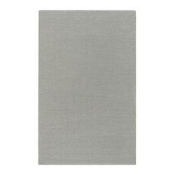 Surya - Surya Mystique 5' x 8' Solid Plush Rug, Flint Gray (M211-58) - Surya M211-58 Mystique 5' x 8' Solid Plush Rug, Flint Gray