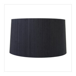 "17"" diameter black silk shade. - 17"" diameter black silk shade."
