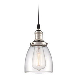 Mini-Pendant Light with Clear Glass -