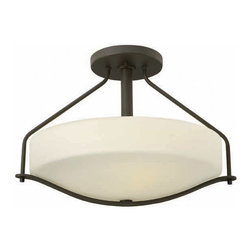 Hinkley Lighting - Hinkley Lighting 3821OZ Pelham Oil Rubbed Bronze Semi-Flush Mount - Hinkley Lighting 3821OZ Pelham Oil Rubbed Bronze Semi-Flush Mount