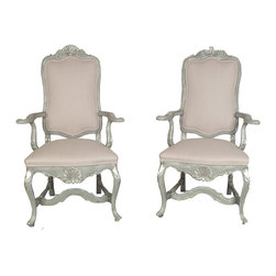 Tall Back Open Armchairs - Tall Back Open Armchairs
