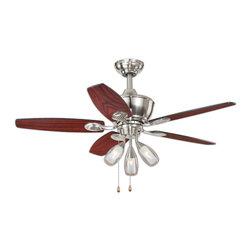 """Vaxcel - Morgan Satin Nickel 44"""" Ceiling Fan - Vaxcel F0008 Morgan Satin Nickel 44"""" Ceiling Fan"""