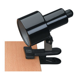 Lite Source - Lite Source LSF-112BLK Clip-On 1 Light Desk Lamps in Black - Clip-On Lite, Black, E27 Cfl 13W