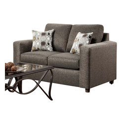 Chelsea Home Furniture - Chelsea Home Talbot Loveseat in Vivid Onyx - Talbot loveseat in Vivid Onyx belongs to the Chelsea Home Furniture collection